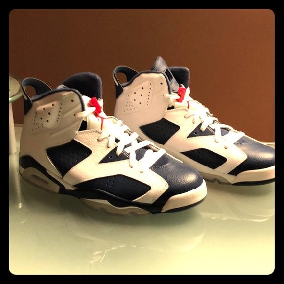 detailed look ff2bf 1ea96 Air Jordan Retro 6- USA Team Color Scheme NWT